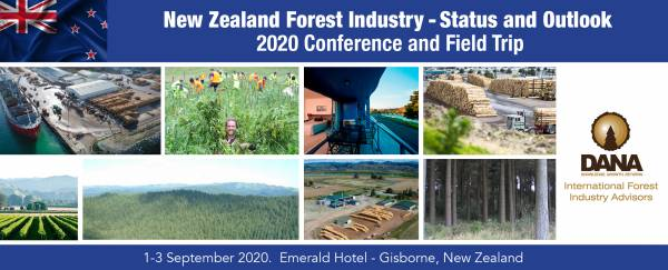 Cover image New Zealand Forest Industry Status and Outlook 2020 Conference and Field Trip