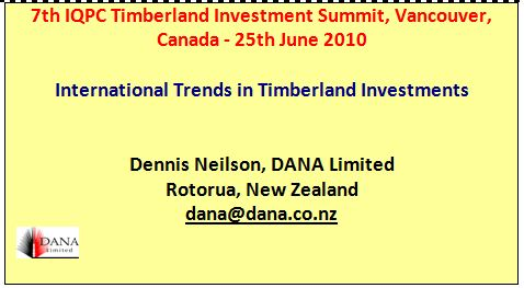 Cover image 7th Timberland Investment Summit