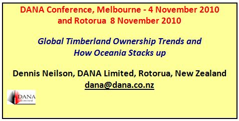 Cover image DANA - Global Timberland Ownership Trends and  How Oceania Stacks up