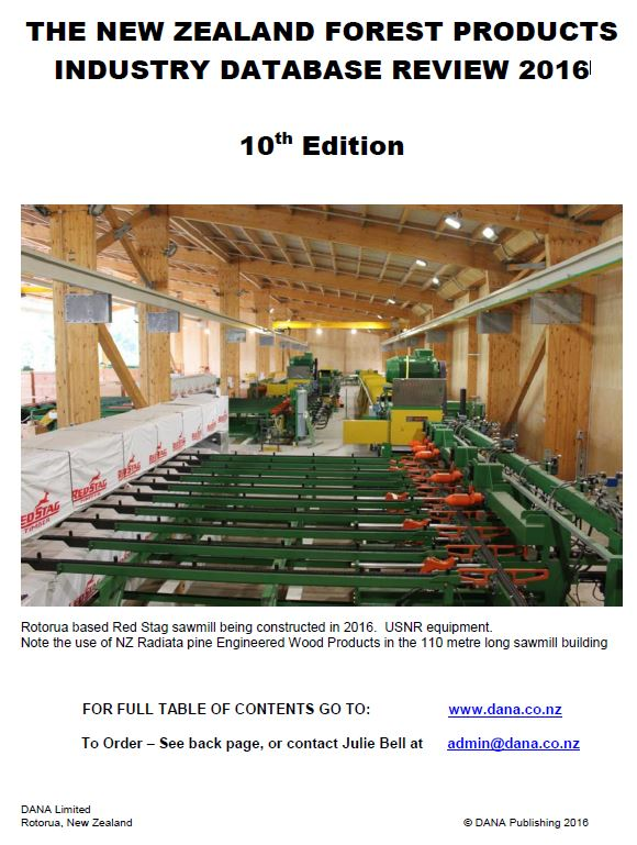 Cover image 2016 New Zealand Forest Products Industry Review